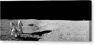 Aldrin At Work Canvas Print by Jon Neidert