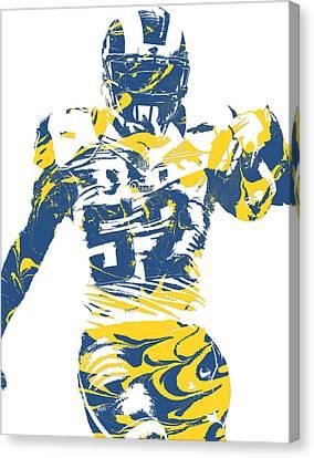 Cities Canvas Print - Alec Ogletree Los Angeles Rams Pixel Art 3 by Joe Hamilton