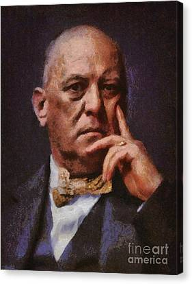 Aleister Crowley, Infamous Occultist Canvas Print by Mary Bassett