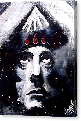 Aleister Crowley Space In Time With The Great Beast Canvas Print by Sam Hane