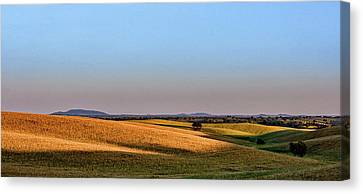 Canvas Print featuring the photograph Alentejo Fields by Marion McCristall