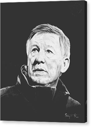 Alex Ferguson Canvas Print by Stephen Rea