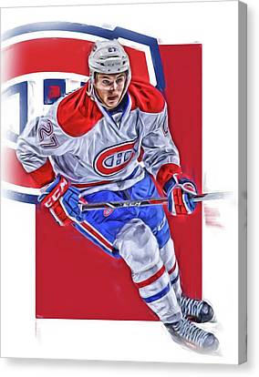 Alex Galchenyuk Montreal Canadiens Oil Art Canvas Print by Joe Hamilton