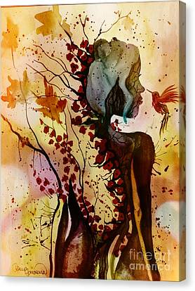 Canvas Print featuring the painting Alex In Wonderland by Denise Tomasura