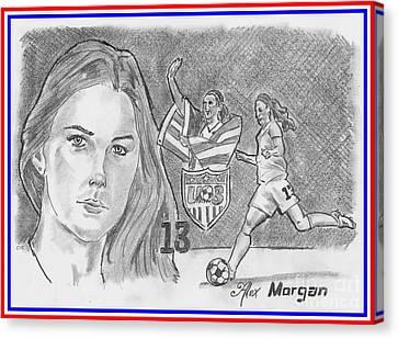 Alex Morgan Canvas Print by Chris DelVecchio