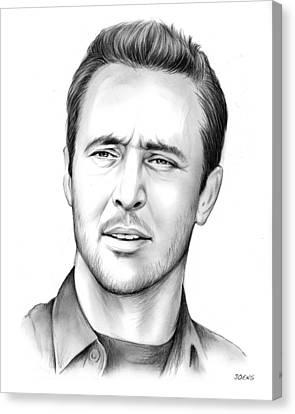 Alex O'loughlin Canvas Print by Greg Joens