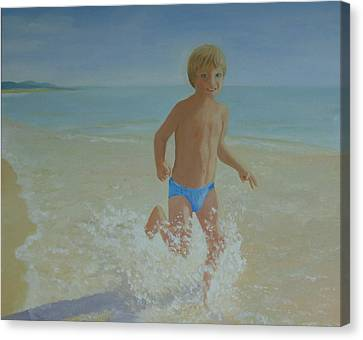 Alex On The Beach Canvas Print