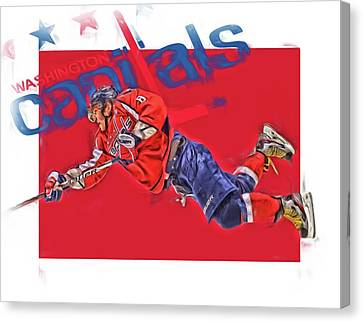 Alex Ovechkin Washington Capitals Oil Art 2 Canvas Print