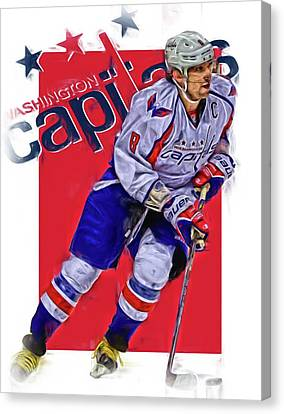 Alex Ovechkin Washington Capitals Oil Art 3 Canvas Print