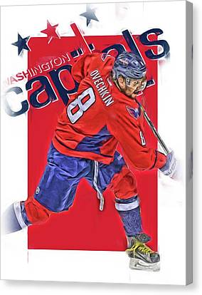 Alex Ovechkin Washington Capitals Oil Art Canvas Print