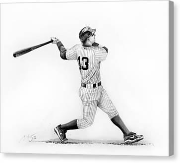 Alex Rodrigues Baseball Player Canvas Print