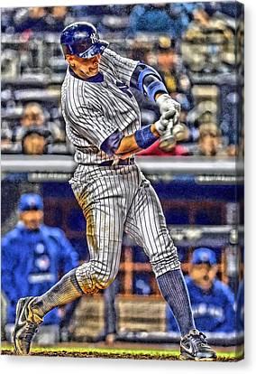 Alex Rodriguez New York Yankees Art 3 Canvas Print