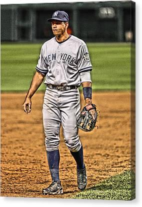 Alex Rodriguez New York Yankees Art 4 Canvas Print