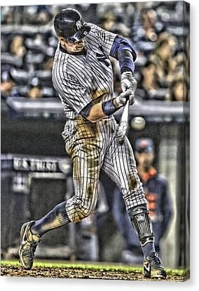 Alex Rodriguez New York Yankees Art1 Canvas Print