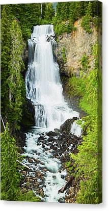 Canvas Print featuring the photograph Alexander Falls - 2 by Stephen Stookey