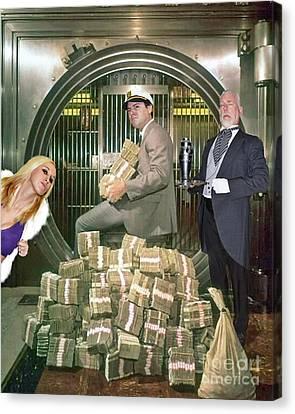Alexander G. Bernard, His Money, Kimberly Diamond And Mr. Goldsworth  Canvas Print by Jim Fitzpatrick