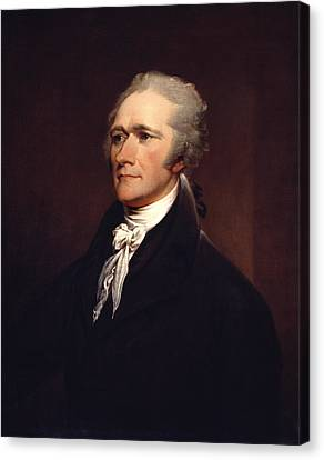 Alexander Hamilton By John Trumbull Canvas Print by War Is Hell Store