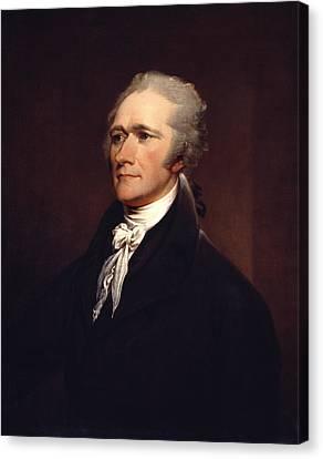 Statesman Canvas Print - Alexander Hamilton By John Trumbull by War Is Hell Store