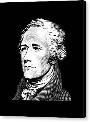 Founding Fathers Canvas Print - Alexander Hamilton - Founding Father Graphic  by War Is Hell Store