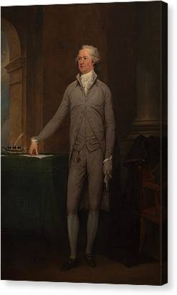 Founding Fathers Canvas Print - Alexander Hamilton Full-length Portrait by War Is Hell Store
