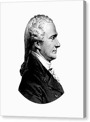 Alexander Hamilton Graphic Portrait  Canvas Print by War Is Hell Store