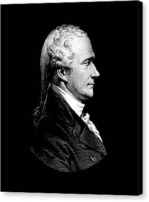 Alexander Hamilton Portrait Canvas Print by War Is Hell Store