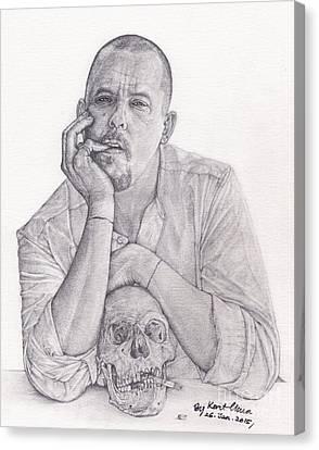 Alexander Mcqueen Hand-drawn Canvas Print by Kent Chua