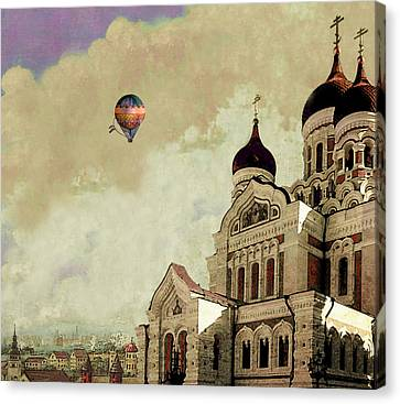 Alexander Nevsky Cathedral In Tallin, Estonia, My Memory. Canvas Print by Jeff Burgess