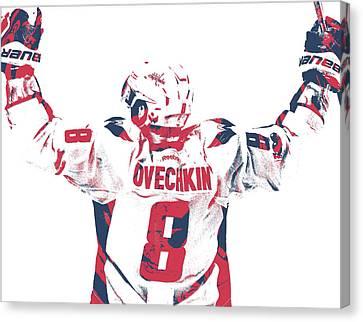 Alexander Ovechkin Canvas Print - Alexander Ovechkin Washington Capitals Pixel Art 9 by Joe Hamilton