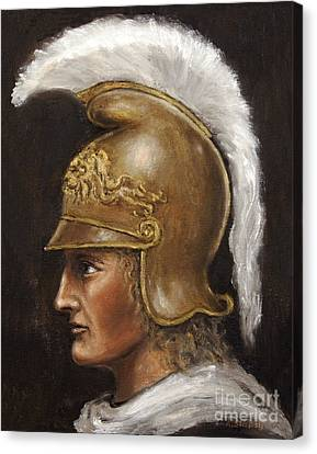 Canvas Print featuring the painting Alexander The Great by Arturas Slapsys