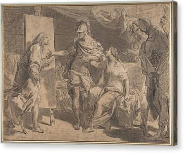 Alexander The Great Offering His Concubine Campaspe To The Painter Apelles Canvas Print by Gaetano Gandolfi