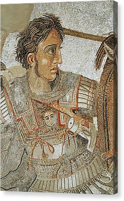 Mosaic Canvas Print - Alexander The Great by Roman School