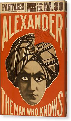 Alexander The Man Who Knows Canvas Print
