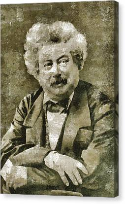 Alexandre Dumas Author Canvas Print by Mary Bassett