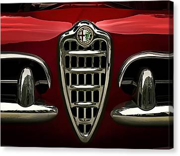 Convertibles Canvas Print - Alfa Red by Douglas Pittman