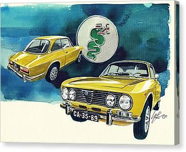 Alfa Romeo 2000 Canvas Print by Yoshiharu Miyakawa