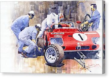 Alfa Romeo 33tt3 Targa Floria 1972 Vaccarella Stommelen Canvas Print by Yuriy  Shevchuk