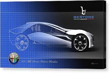 Transportation Canvas Print - Alfa Romeo Bertone Pandion Concept by Serge Averbukh