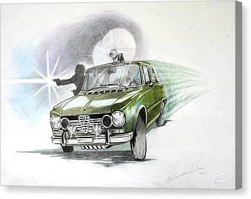 Alfa Romeo Giulia Polizia  Canvas Print