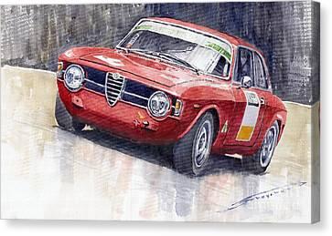 Alfa Romeo Giulie Sprint Gt 1966 Canvas Print by Yuriy  Shevchuk