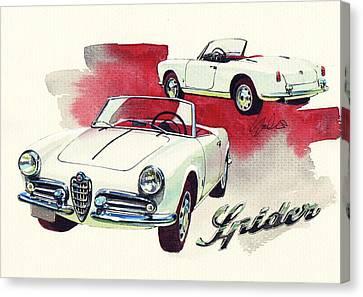 Alfa Romeo Giulietta Spider Canvas Print by Yoshiharu Miyakawa