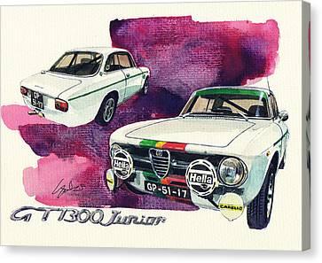 Alfa Romeo Gt1300 Junior Canvas Print by Yoshiharu Miyakawa