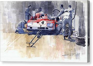 Alfa Romeo T33 Tt3 1972 Targa Florio  Canvas Print by Yuriy  Shevchuk