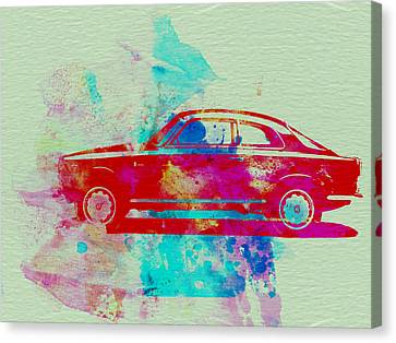 Alfa Romeo  Watercolor 2 Canvas Print by Naxart Studio