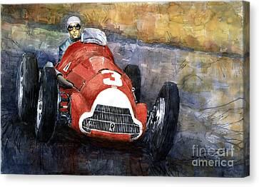 Alfa Romeo158 British Gp 1950 Luigi Fagioli Canvas Print by Yuriy  Shevchuk