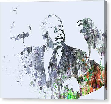 Alfred Hitchcock Birds Canvas Print by Naxart Studio