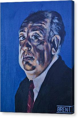 Alfred Hitchcock Canvas Print by Brent Andrew Doty