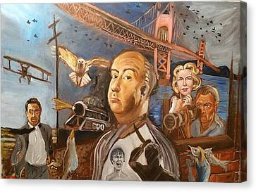 Alfred Hitchcock  Canvas Print by Charles Paine