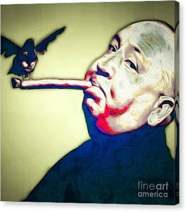 Alfred Hitchcock Birds Cigar BW Poster