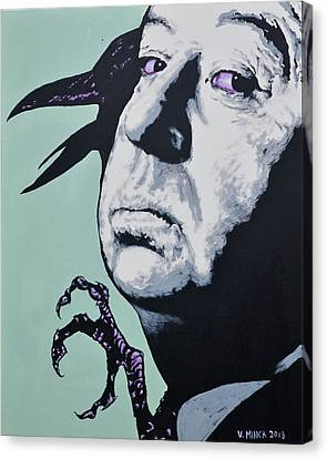 Alfred Hitchcock Canvas Print by Victor Minca